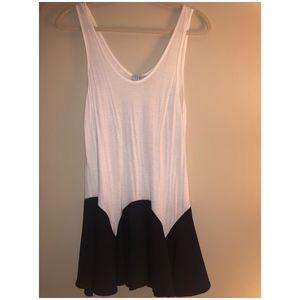 B&W cotton tank dress